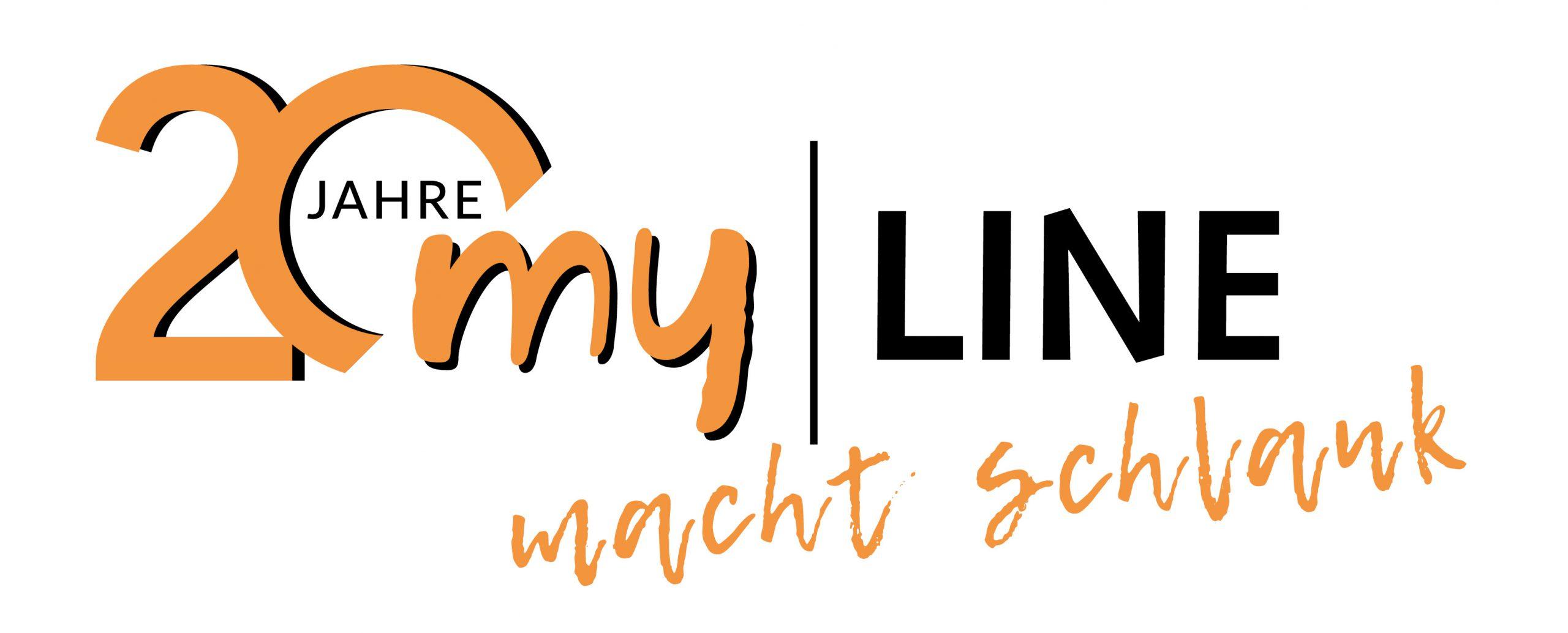 Logo_20 Jahre myLINE_mit Slogan